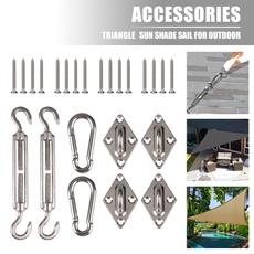 Steel, sunshadesail, shadesailcanopy, Patio & Garden