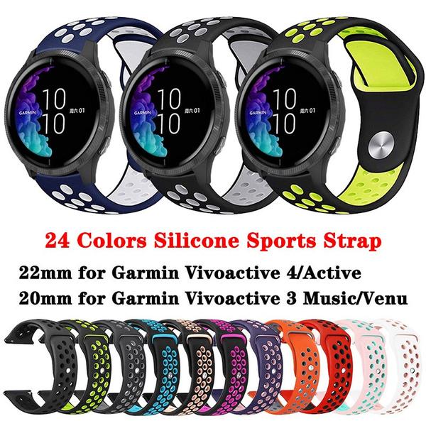 garminvivoactive4band22mm, garminmove3band, siliconewatchband, Silicone