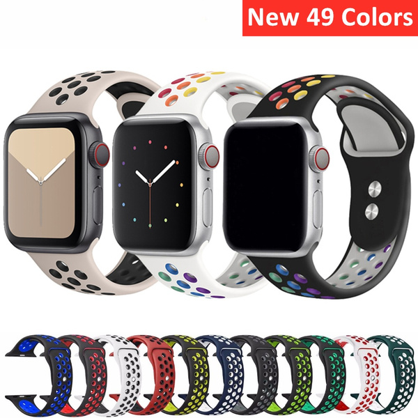 applewatch, Apple, iwatchbandmulticolor, Silicone