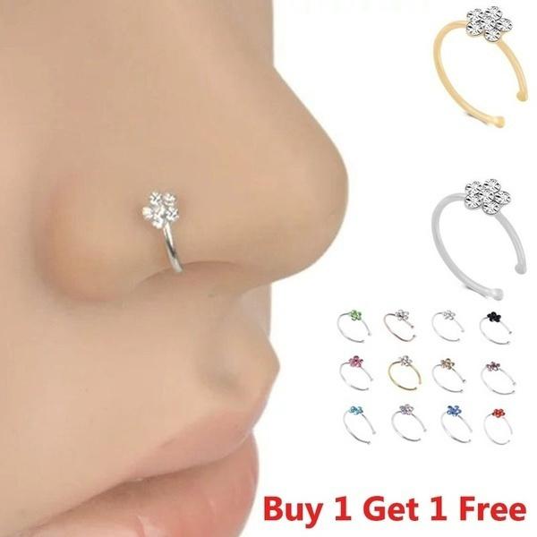 Charm Jewelry, Flowers, Jewelry, nosehoop