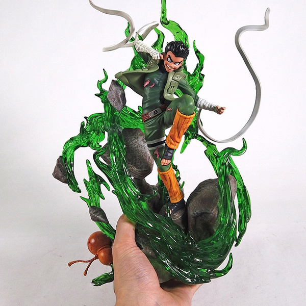 Naruto Eight Inner Gates Guy PVC Figure Statue with LED Light  35cm