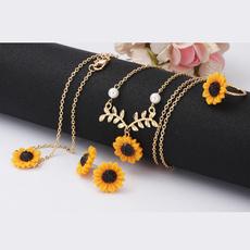 Fashion, Jewelry, Sunflowers, Women jewelry