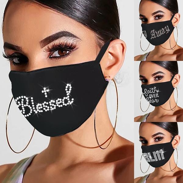 Fashion, glittermask, unisexmask, mouthmask