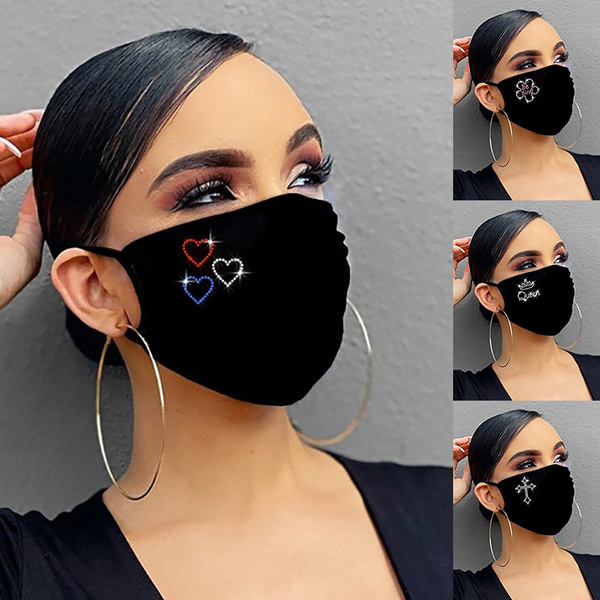 Heart, glittermask, unisexmask, mouthmask