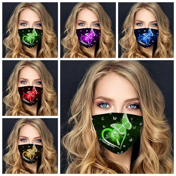 butterfly, washable, printed, ridingmask