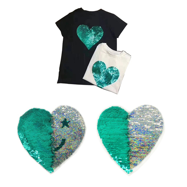 Clothes, decorativepatche, reversiblesewingpatche, Heart