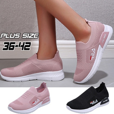 Plus Size, shoes for womens, breathablesneaker, casualsliponshoe