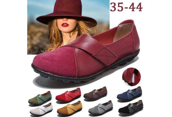 Woman Plus Size 35-41 Women Shoes Plus Size Ladies Platform Shoes Women Flats Female Shoes,Rose red,5