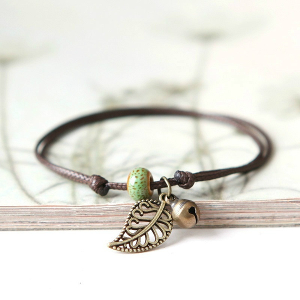 bohemia, Beaded Bracelets, leaf, Anklets