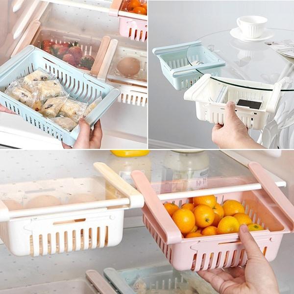 Refrigerator Drawer Fridge Freezer Shelf Kitchen Fruit Storage Adjustable