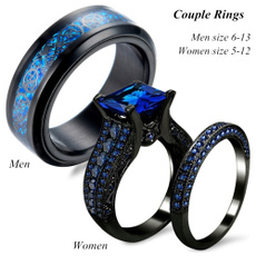 Couple Rings, Blues, 8MM, lovering