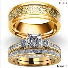 18 k, Steel, DIAMOND, wedding ring