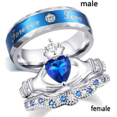 Sterling, Blues, Engagement, wedding ring
