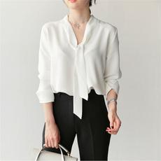 sleeve v-neck, fashion women, Chiffon Shirt, Shirt