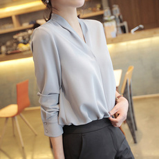 sleeve v-neck, fashion women, womens top, Shirt