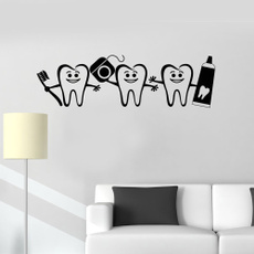 Decor, bathroomdecor, dentalcare, doorsticker