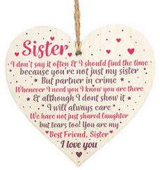 Heart, sister, bestfriend, hangingplaque
