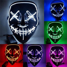 Cosplay, light up, partymask, glowmask