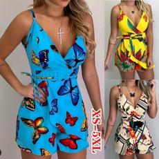 Summer, Plus Size, Floral print, summerjumpsuit