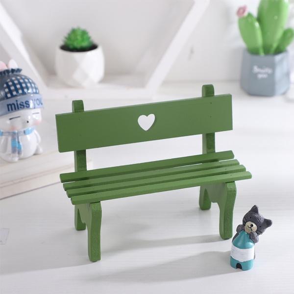 Vosarea Decorative Mini Wooden Garden, Decorative Garden Benches Mini