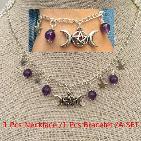 quartz, gemstonenecklace, Jewelry, witchjewellery