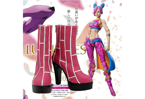 Details about  /Anime Jojo Jolyne Cujoh Cosplay Shoes Boots Costume Props Custom Made Shoe Boot