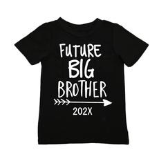 Fashion, letter print, Boy, T Shirts