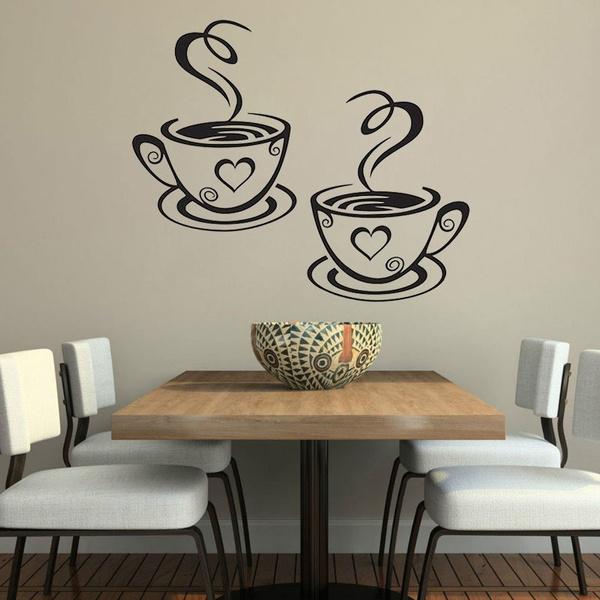 diningroomdecor, cafedecor, Cup, Wall Decal