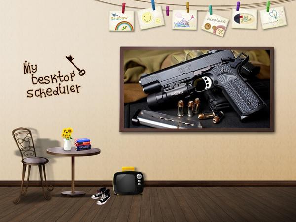 Decor, pistol, Military, house