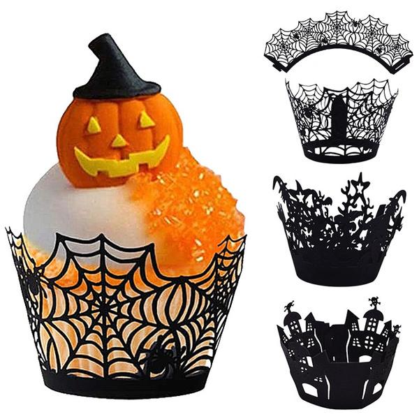 castlecakewrapper, witchcakewrapper, Halloween, hollowoutpapercakewrapper