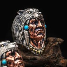 Steel, Jewelry, werewolf, Stainless steel ring