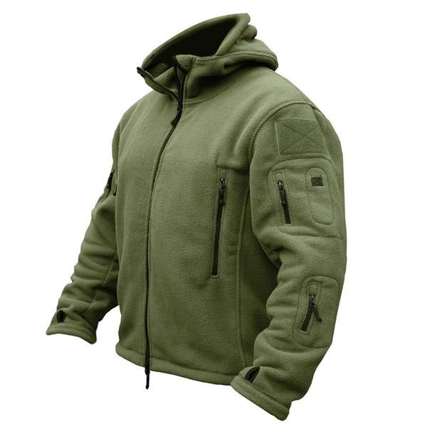 Fleece, Outdoor, Hiking, Army