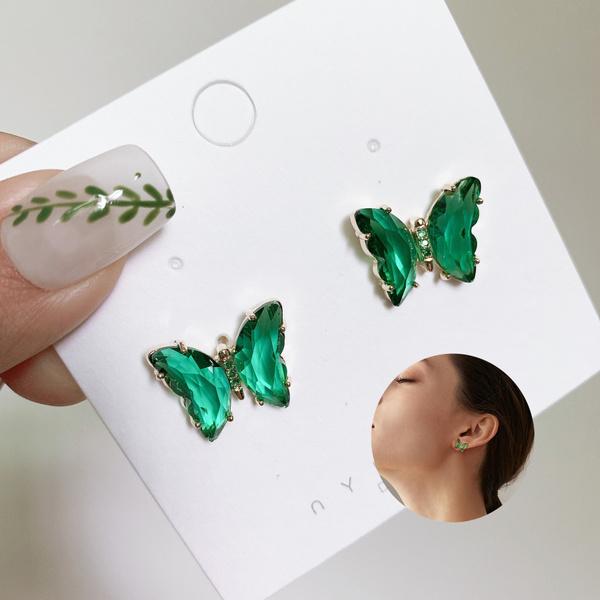 butterfly, Fashion, Food, Stud Earring