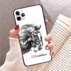 case, cute, horse, Flowers