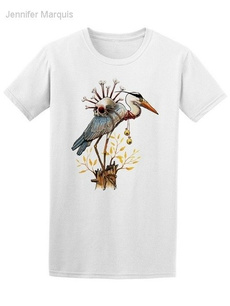 Summer, heron, skull, Vintage