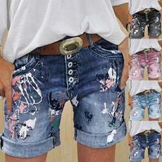 Summer, Shorts, tiedyeprint, casualshort