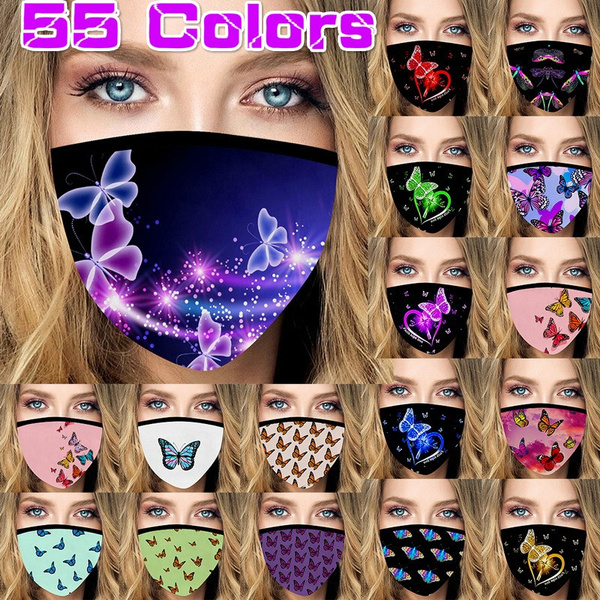 butterflyprint, butterfly, Outdoor, mouthmask