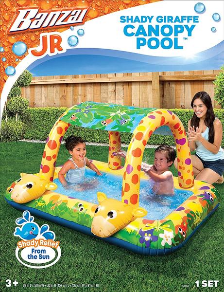 shady, giraffe, canopy, pool