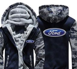 Fleece, Plus Size, Christmas, Coat