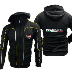Outdoor, zipper hoodie, Jacket, Ducati