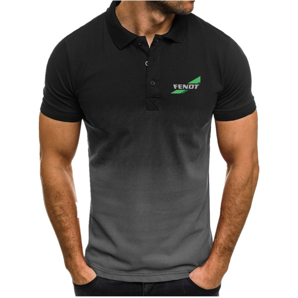 fendttractor, Mens T Shirt, collar slim, Fashion