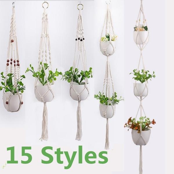 plantpotholder, decoration, hookshanger, ropehanger