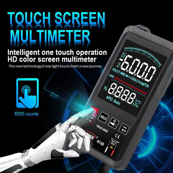 Touch Screen, multimetro, multimètre, digitalmultimeter