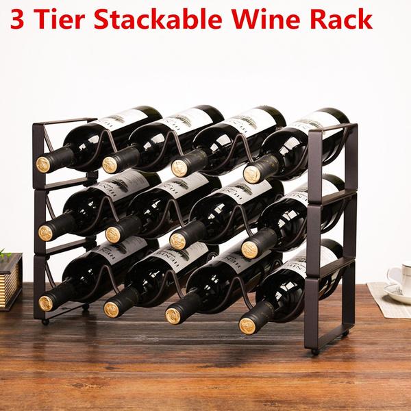wineholder, winestorage, threesinglelayerwinerack, Storage