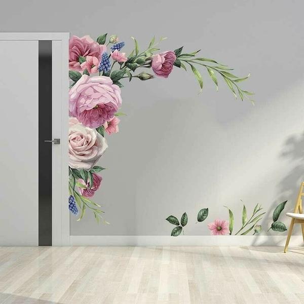 roseflowerwalldecal, Decor, Flowers, art