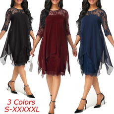 dressesforwomen, tunic, Lace, plus size dress