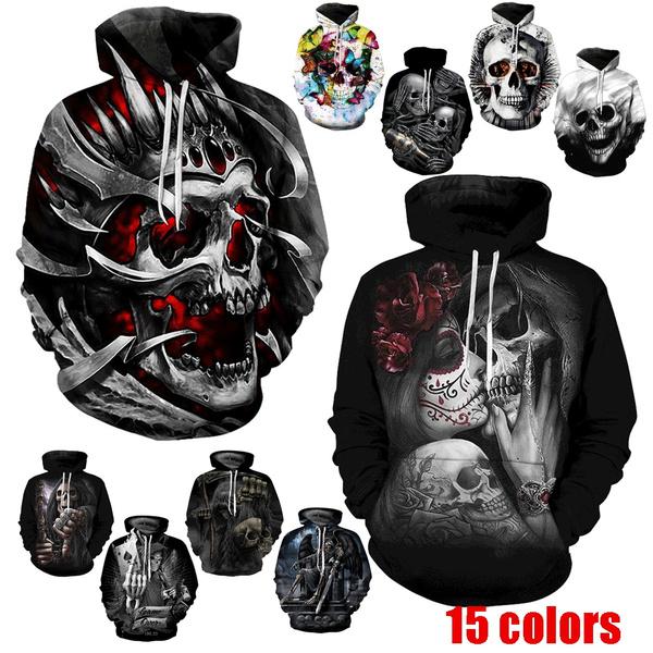 3D hoodies, Goth, Casual Hoodie, Cosplay