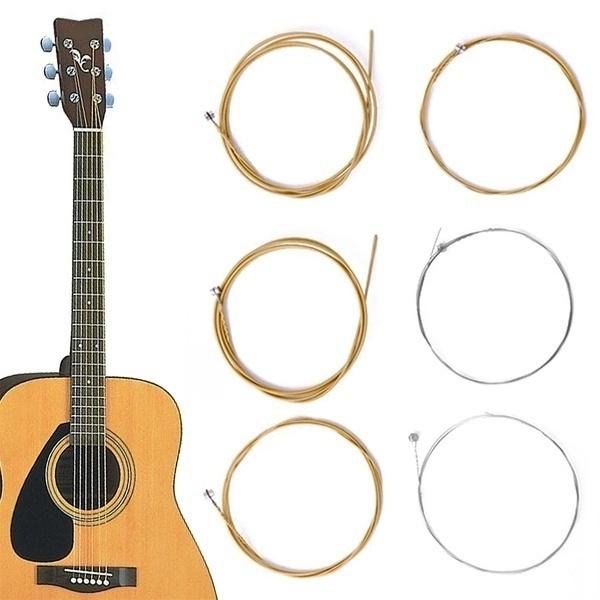 Steel, 1setof6, Acoustic Guitar, acousticguitarstring