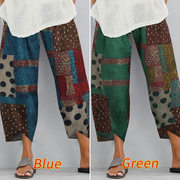 summertrouser, Women Pants, Plus Size, cottonpant