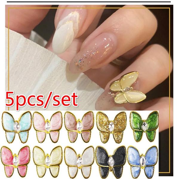 butterfly, nail decoration, DIAMOND, diamondbutterfly